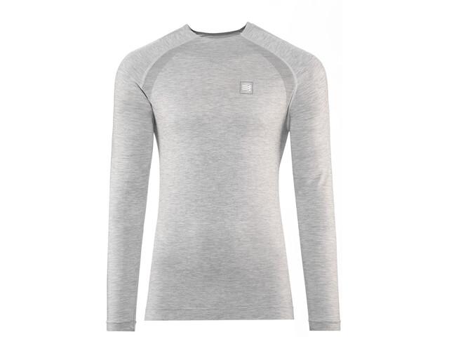 Compressport Training T-Shirt Langarm grey melange